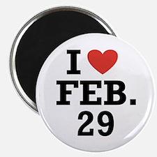 I Heart February 29 Magnet