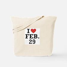 I Heart February 29 Tote Bag