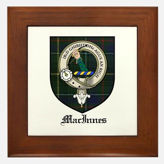 MacInnes Clan Crest Tartan Framed Tile
