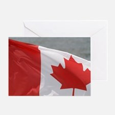 Victoria, Canada. Canadian flag flyi Greeting Card