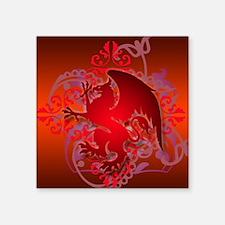 """urban griffin bright red Square Sticker 3"""" x 3"""""""