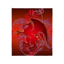 urban griffin bright red Throw Blanket