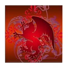 urban griffin bright red Tile Coaster