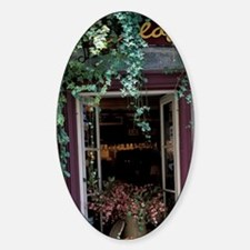 Outdoor restaurant tableity. Lower  Sticker (Oval)