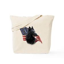 Belgian Sheepdog Flag Tote Bag