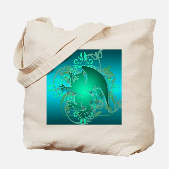urban griffin teal Tote Bag