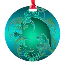 urban griffin teal Ornament