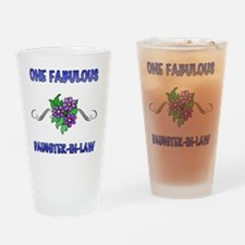 3Flowers_DaughterInLaw Drinking Glass