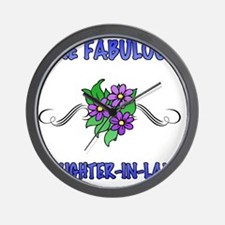 3Flowers_DaughterInLaw Wall Clock