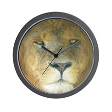 Lion round Wall Clock