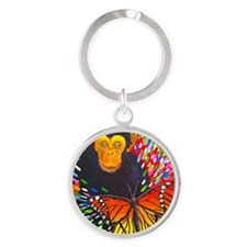 Escaping The Cocoon Round Keychain