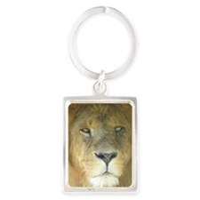 Lion journal Portrait Keychain
