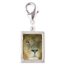 Lion journal Silver Portrait Charm