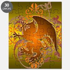 urban griffin orange tie die Puzzle