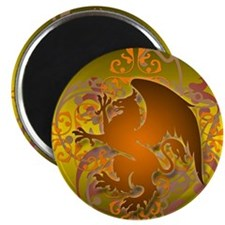 urban griffin orange tie die Magnet