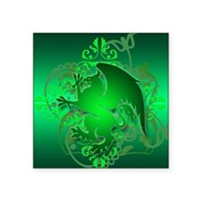 "urban griffin green Square Sticker 3"" x 3"""