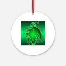 urban griffin green Round Ornament