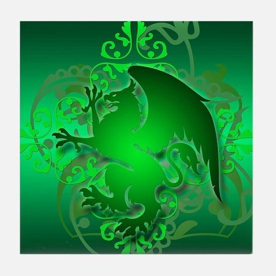 urban griffin green Tile Coaster