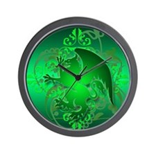 urban griffin green Wall Clock