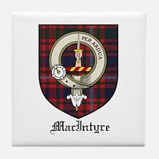 MacIntyre Clan Crest Tartan Tile Coaster