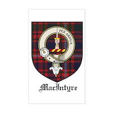 MacIntyre Clan Crest Tartan Rectangle Decal