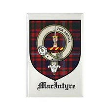 MacIntyre Clan Crest Tartan Rectangle Magnet (10 p