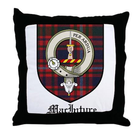 MacIntyre Clan Crest Tartan Throw Pillow