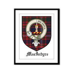 MacIntyre Clan Crest Tartan Framed Panel Print