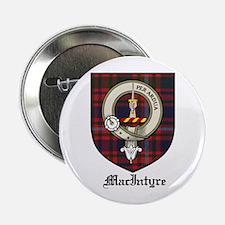 """MacIntyre Clan Crest Tartan 2.25"""" Button (10 pack)"""