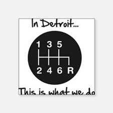 "detroit Square Sticker 3"" x 3"""