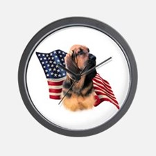 Bloodhound Flag Wall Clock