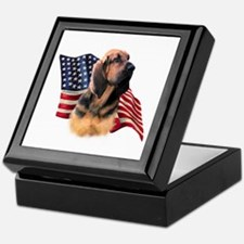 Bloodhound Flag Keepsake Box