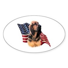 Bloodhound Flag Oval Decal