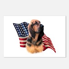 Bloodhound Flag Postcards (Package of 8)