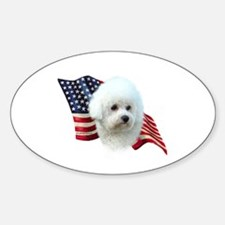 Bichon Flag Oval Decal