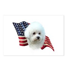 Bichon Flag Postcards (Package of 8)