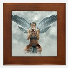 silver winter fairy Framed Tile