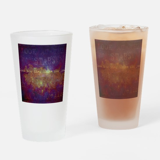 Look At The Stars Look T-shirt copy Drinking Glass