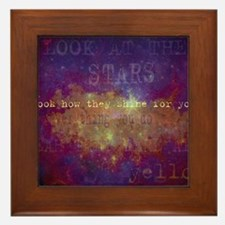Look At The Stars Look T-shirt copy Framed Tile