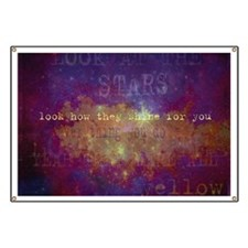 Look At The Stars Look T-shirt copy Banner