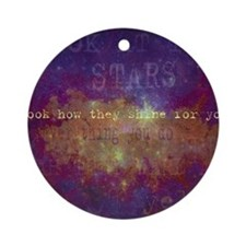 Look At The Stars Look T-shirt copy Round Ornament