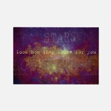 Look At The Stars Look T-shirt co Rectangle Magnet