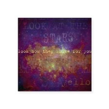 """Look At The Stars Look T-sh Square Sticker 3"""" x 3"""""""