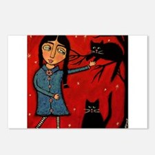 Little Stocking Girl Postcards (Package of 8)