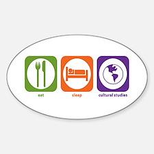 Eat Sleep Cultural Studies Oval Decal