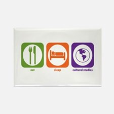 Eat Sleep Cultural Studies Rectangle Magnet