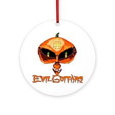 Evil Guitars Halloween Jack O Lante Round Ornament