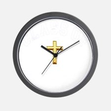 CO2013 Cross White Distressed 2 Wall Clock