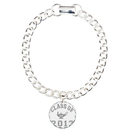 CO2013 RN Gray Distresse Charm Bracelet, One Charm