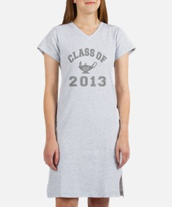 CO2013 RN Gray Distressed Women's Nightshirt